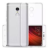 Para Ultrafina Transparente Funda Cubierta Trasera Funda Un Color Suave TPU para Xiaomi Xiaomi Redmi Note 4X