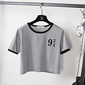 レディース お出かけ Tシャツ,セクシー ラウンドネック ソリッド コットン 半袖