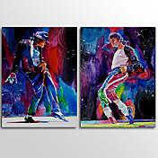 キャンバスプリント 人物 Modern,2枚 キャンバス 横長 版画 壁の装飾 For ホームデコレーション