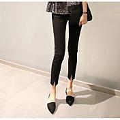 レディース ストリートファッション ハイライズ ブーッカット マイクロエラスティック ジーンズ パンツ ゼブラプリント