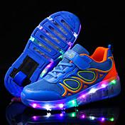 男の子-アウトドア カジュアル アスレチック-チュール-ローヒール-靴を点灯 ルミナス靴-アスレチック・シューズ-ブルー ピンク