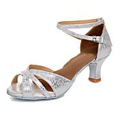 Zapatos de baile-Personalizables-Mujer-Latino-Tacón Personalizado-Semicuero-