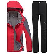 Mujer Chaquetas 3-en-1 Impermeable Mantiene abrigado Resistente al Viento Forro Polar Resistente a la lluvia Listo para vestir