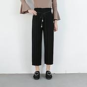 レディース シンプル ストリートファッション ミッドライズ ワイドレッグ チノパン パンツ ゼブラプリント