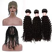 Un paquete de soluciones Cabello Peruano Rizado rizado 12 meses 4 Piezas los tejidos de pelo