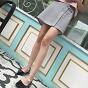 レディース ミッドライズ Aライン 膝上 スカート ゼブラプリント