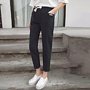 レディース ストリートファッション ミッドライズ ハーレム チノパン パンツ ゼブラプリント