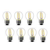 2W E14 E27 フィラメントタイプLED電球 G45 2 COB 200 lm 温白色 装飾用 AC220 AC230V印加時 AC240 V 8枚