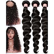 Un paquete de soluciones Cabello Malayo Ondulado Amplio 12 meses 4 Piezas los tejidos de pelo