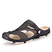 メンズ スリッパ&フリップ・フロップ 穴の靴 化繊 春 夏 アウトドア ブラック ダークブルー グレー ダークブルー グリーン フラット