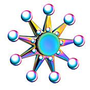 Fidget spinners Hilandero de mano Juguetes Spinner de anillo Metal EDCAlivio del estrés y la ansiedad Juguete del foco Alivia ADD, ADHD,