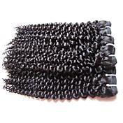 Velkoobchod mongolské kinky kudrnaté panenské vlasy 5bundle 500g dávka 100% nezpracované lidské vlasy materiál přírodní černá barva vlasů