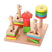 Puzles de Madera Para regalo Bloques de Construcción Madera Natural 3-6 años de edad Juguetes