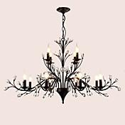 Lámparas Araña ,  Moderno / Contemporáneo Tradicional/Clásico Tiffany Cosecha Retro Campestre Pintura Característica for Cristal LED Metal