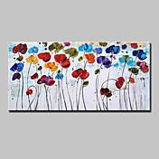 Pintada a mano Floral/Botánico Horizontal,Modern Estilo europeo Un Panel Lienzos Pintura al óleo pintada a colgar For Decoración hogareña