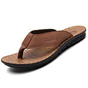 Hombre Zapatillas y flip-flop Suelas con luz Cuero Primavera Verano Casual Paseo Suelas con luz Tacón PlanoNegro Marrón Claro Morrón