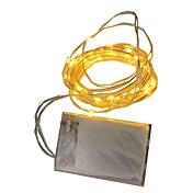 1W Cuerdas de Luces 80 lm Batería V 2 m 20 leds Blanco cálido Blanco RGB Rojo Amarillo Azul Verde Púrpura Rosado