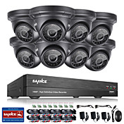 sannce®8ch CCTVセキュリティシステムonvif 1080p ahd / tvi / cvi / cvbs / ip 8インチ2.0インチ防水カメラ付き5in1 dvr