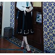 Mujer Casual/Diario Midi Faldas,Holgado Verano Un Color