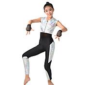 Calzado Profesional Leotardos Mujer Niños Representación Espándex Poliéster 5 Piezas Sin mangas Mangas cortas Cintura AltaLeotardo Top