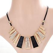Mujer Chica Gargantillas Collares de cadena Collares Declaración Cristal Forma GeométricaDiseño Único Colgante Perla Amistad Ajustable