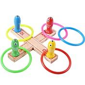 ストレス解消 磁石玩具 釣りのおもちゃ 円形 ウッド 3-6歳