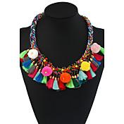 Mujer Gargantillas Collares con colgantes Collares Declaración Forma Geométrica Materiales Mixtos Aleación de Metal Floral estilo de
