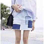 レディース ペンシルベイト カジュアル/普段着 ミニ スカート 幾何学模様 夏