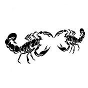 28 * 17cm morsom tegneserie skorpionen konge bil mærkat bilrude væg decal bil styling (2stk)