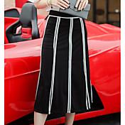 Mujer Noche Midi Faldas,Línea A Verano Bloque de Color