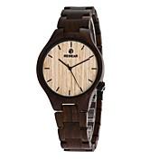 男性用 女性用 腕時計 ウッド 日本産 クォーツ 木製 ウッド バンド ラグジュアリー エレガント腕時計 ブラック