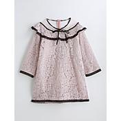 女の子の ゼブラプリント コットン ドレス 夏 七分袖