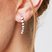 スタッドピアス クリスタル 模造ダイヤモンド キュービックジルコニア ファッション あり Elegant 愛らしいです クリスタル ジルコン キュービックジルコニア ジュエリー ホワイト ジュエリー のために 結婚式 パーティー 誕生日 婚約 カジュアル 2 個