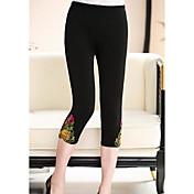Mujer Sencillo Tiro Medio Shorts Pantalones,Pitillo Floral