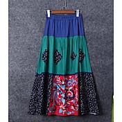 Mujer Noche Midi Faldas,Columpio Verano Bloque de Color
