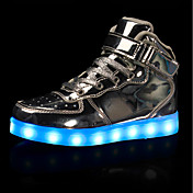Chica Zapatillas de deporte Confort Zapatos con luz PU microfibra sintético Otoño Invierno Casual Fiesta y NocheCon Cordón Cierre