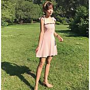 Mujer Largo Pullover Casual/Diario Un Color Con Tirantes Sin Mangas Algodón Verano Medio Microelástico