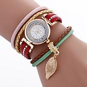 Mujer Reloj de Moda Reloj Pulsera Reloj creativo único Chino Cuarzo PU Banda Bohemio Encanto Casual Elegantes Negro Blanco Azul Rojo