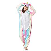 Kigurumi Pijamas Caballo volador Festival/Celebración Ropa de Noche de los Animales Halloween Arco Iris Moda Bordado Franela Disfraces de
