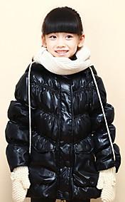 Chunyazi Mode lange Hoodie Padded Coat (Schwarz)