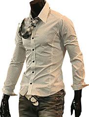 dlouhý rukáv ležérní košile černá bílá