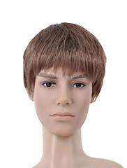 nadolijevanja kratke smeđe ravne kose perika