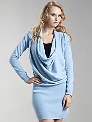 ts pokrytý kryt krku kašmírový svetr šaty (5 barev)