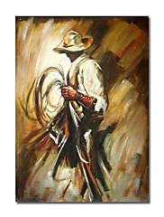 ručně malované lidé olejomalba s roztaženou rámem