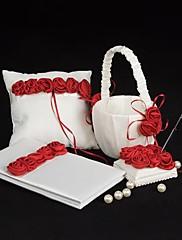 bold crveno luksuzni porasla postrojilo set vjenčanje zbirka (4 komada)