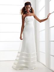 LAN TING BRIDE A-Linie Princess Svatební šaty - Klasické & nadčasové Elegantní & moderní Šaty na hostinu Sade ve Hoş Na zem Bez ramínek