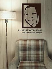 naivni osmijeh zidne naljepnice (1985-D23)
