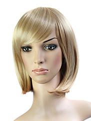 capless krátké 100% japonské Kanekalon vlákno světle hnědé rovné vlasy paruka