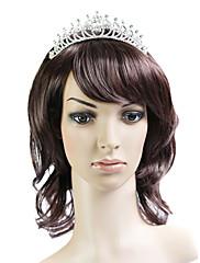 capless hnědá 100% japonské Kanekalon vlákno krásné kudrnaté vlasy paruka rameno