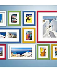色鮮やかな写真の壁フレームコレクション - 10のセット
